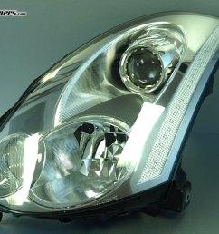 06 07 infiniti cv35 g35 coupe skyline super led headlight factory  [ 1024 x 768 Pixel ]