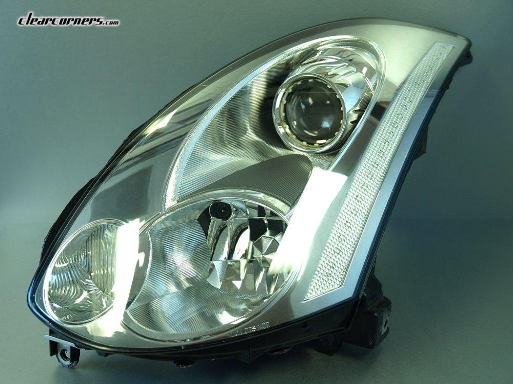 medium resolution of 06 07 infiniti cv35 g35 coupe skyline super led headlight factory