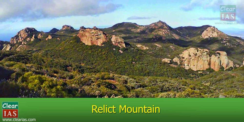 medium resolution of image of a relict mountain