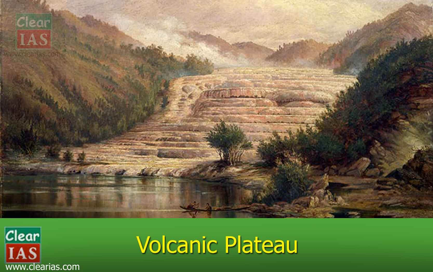 hight resolution of image of a volcanic plateau