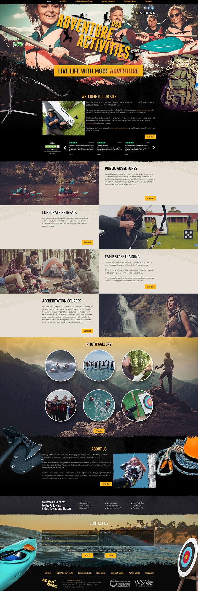custom web design portfolio