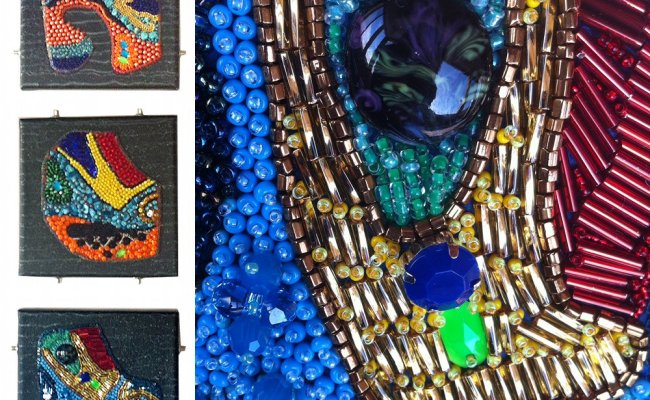 Bead Embroidery Wall Art Clearlyhelena