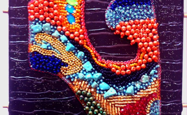 Bead Embroidery Wall Art Clearlyhelena