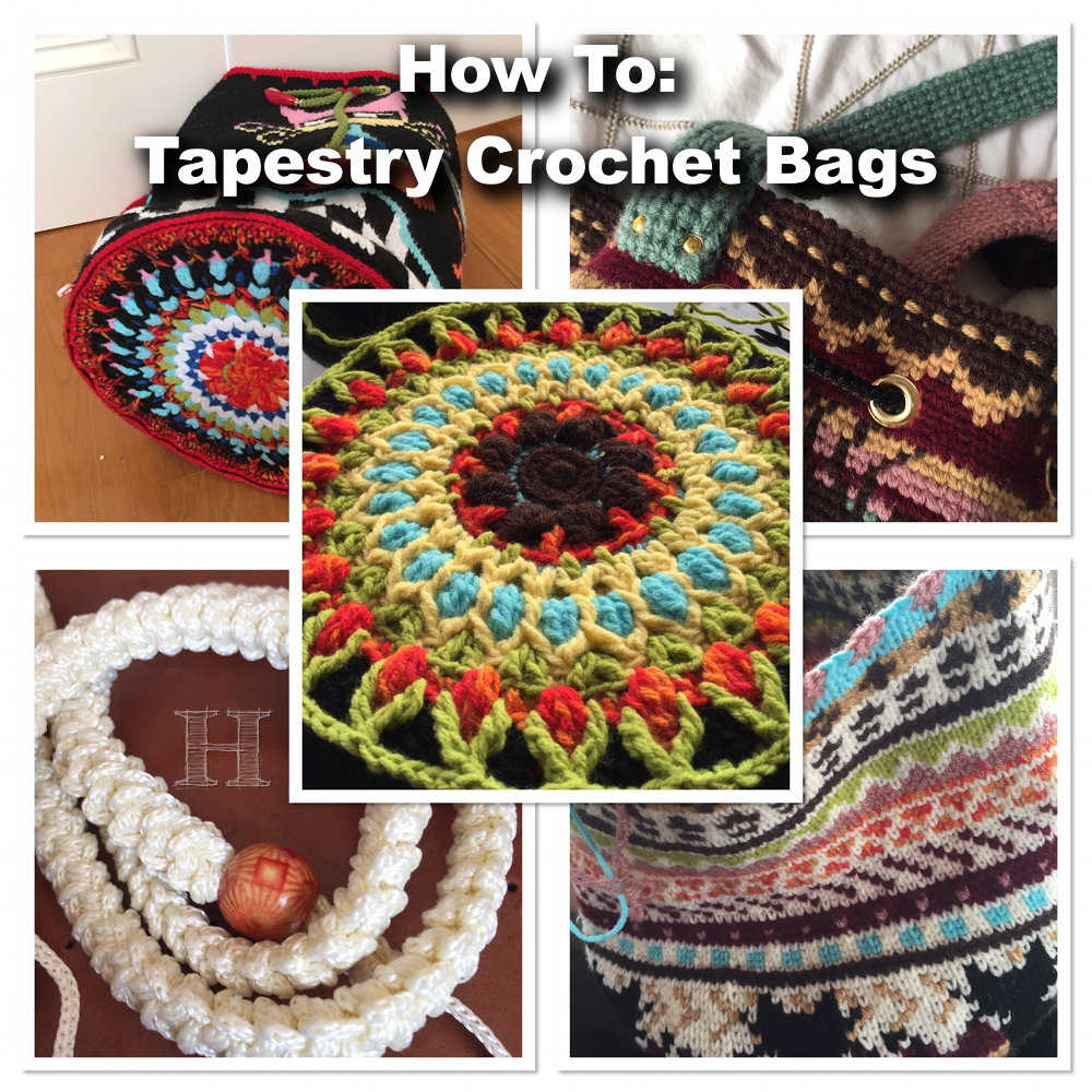 Tapestry Crochet Bags - how to