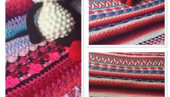 Crochet Blanket - Random Afghan #3 (CH0501) ・ClearlyHelena
