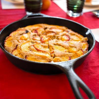 Vegan Polenta Peach Cake
