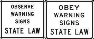 Obey Signs