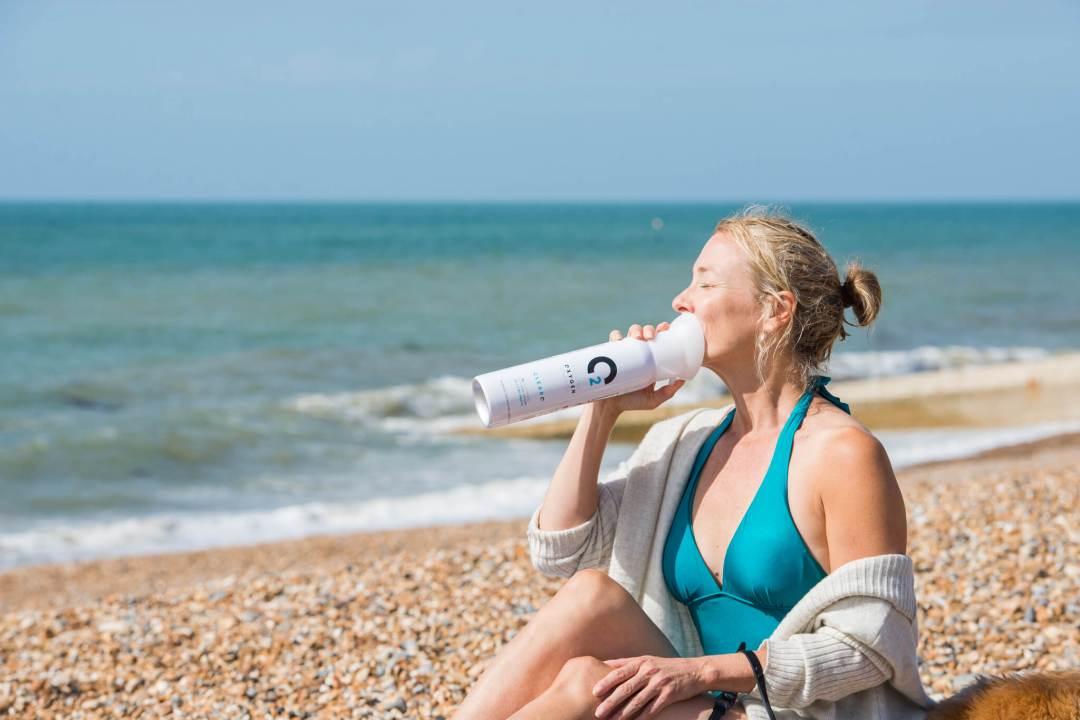 ClearO2 Woman Breathing Oxygen
