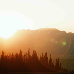 Sunrise over a mountain