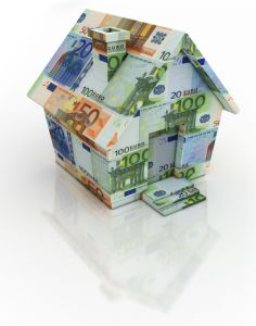 A house made out of paper money