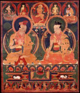 Gampopa with 1st karmapa