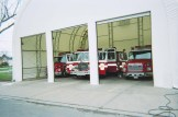 3 door bay for service vehicles in a white fabric structure