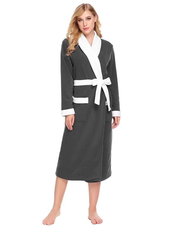 Ladies Womens Lightweight Summer Dressing Gown Cotton Bathrobe Housecoat