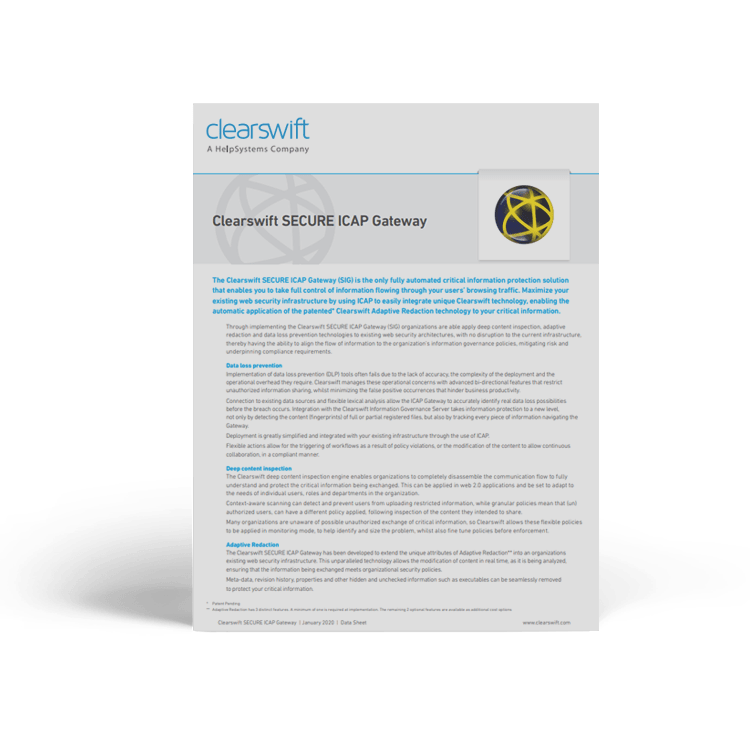 Secure ICAP Gateway | Clearswift