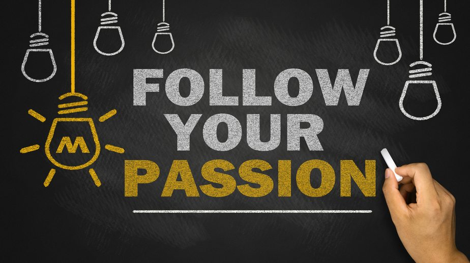 An image encouraging people to follow their passion, do what they love and be in turn motivated by love.