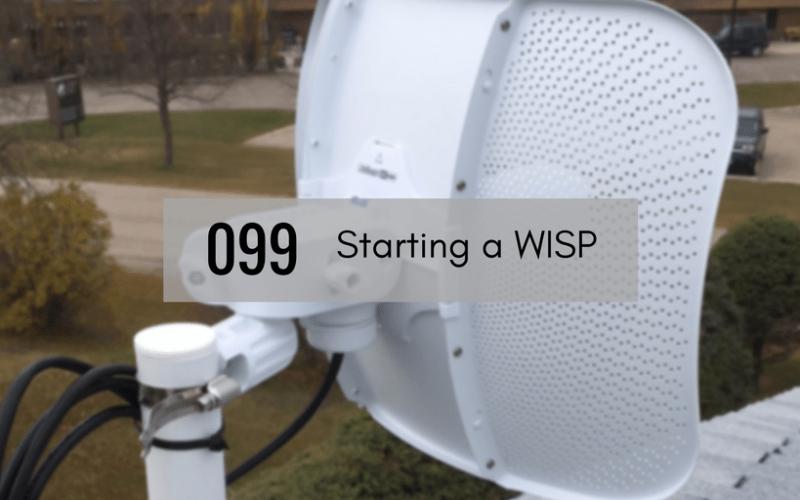 Antenna installation for 45networks WISP