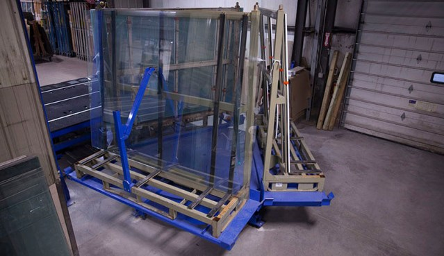 Laminated flat glass