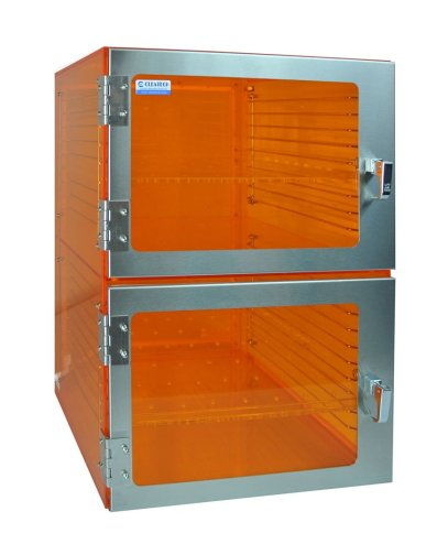 Amber Acrylic Desiccator Cabinet - Cleatech