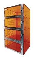 Amber Acrylic Desiccator Four Door - Cleatech