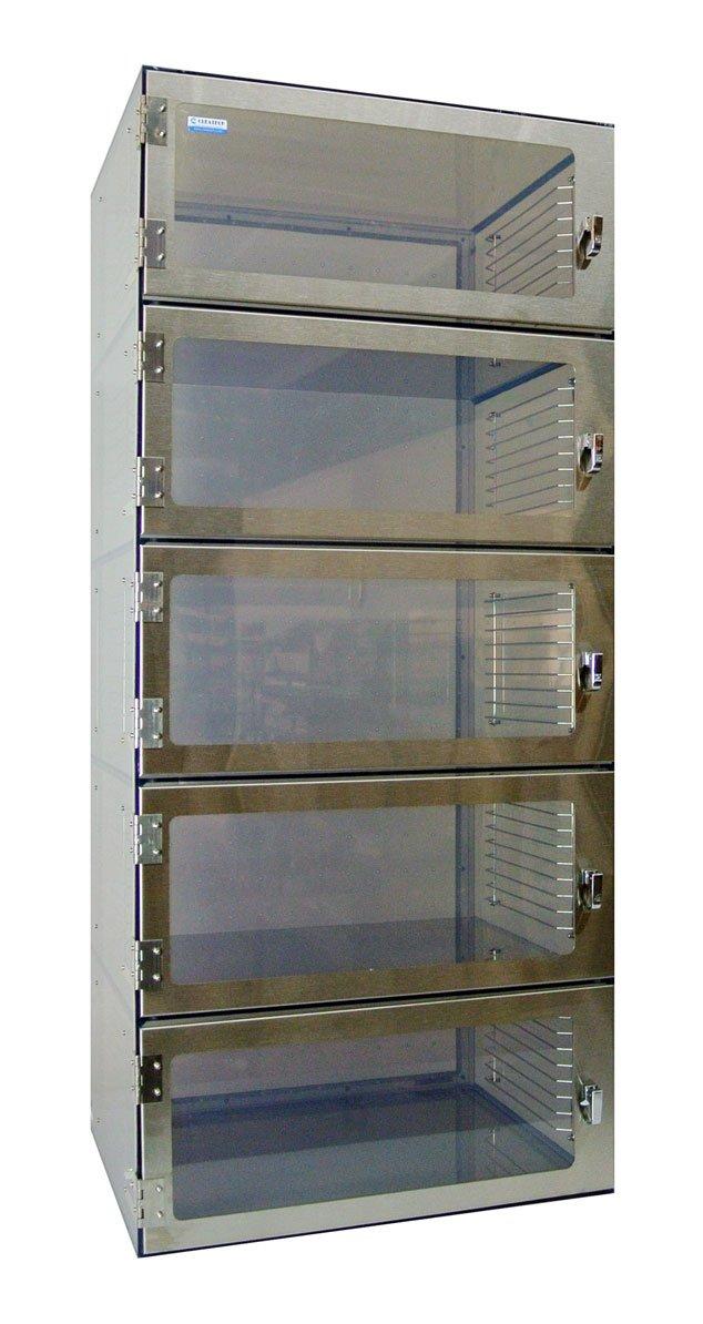 Five Door Desiccator Cabinet Static Dissipative PVC