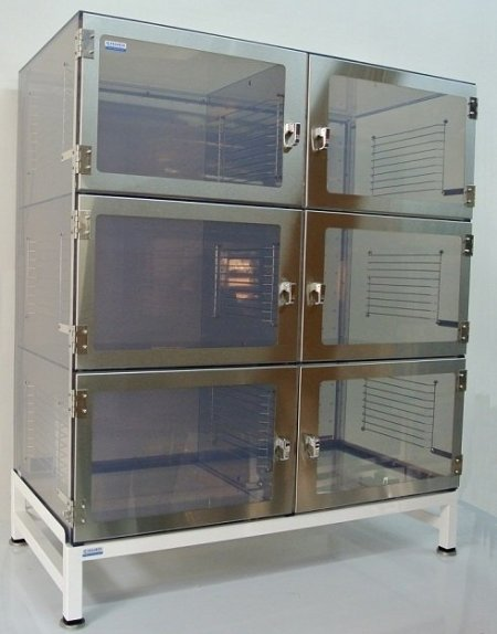 Six Door ESD Desiccator Cabinet - Cleatech