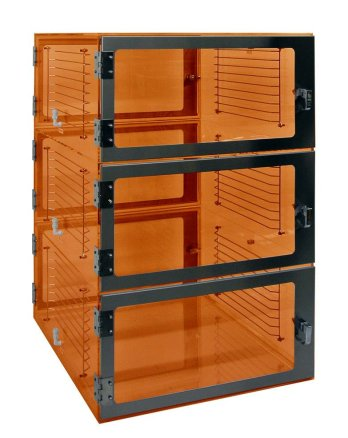 Three door Pass-through-Amber-24x18x48 by Cleatech