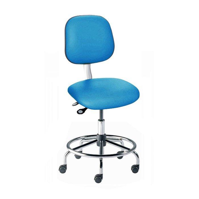 EE Series ESD Chair Tubular Steel Base Low Seat Height