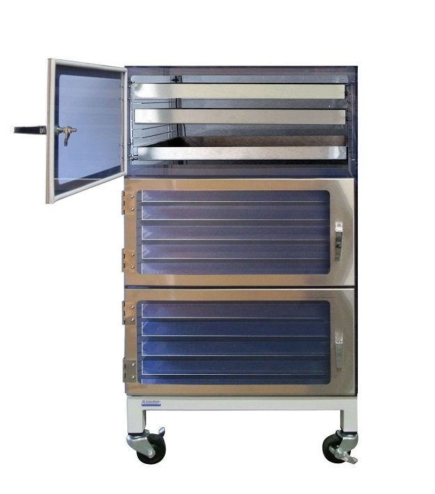 Three Door Desiccators by Cleatech Laboratory Solutions