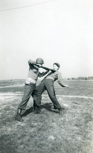 """Combat """"play"""" in Korea, c 1950."""