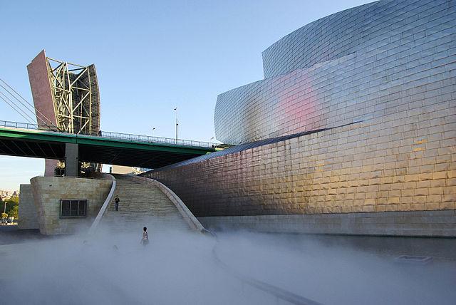 """Fog Sculpture #08025 """"F.O.G.,"""" Guggenheim Museum Bilbao, Spain"""
