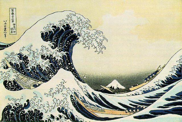 Tsunami by Hokusai