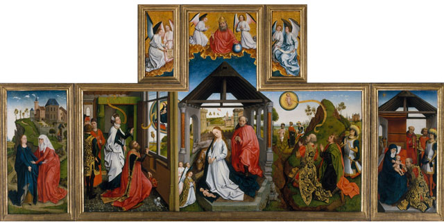 The-Nativity-Workshop-of-Rogier-van-der-Weyden--(Netherlandish,-Tournai-ca.-1399–1464-Brussels)