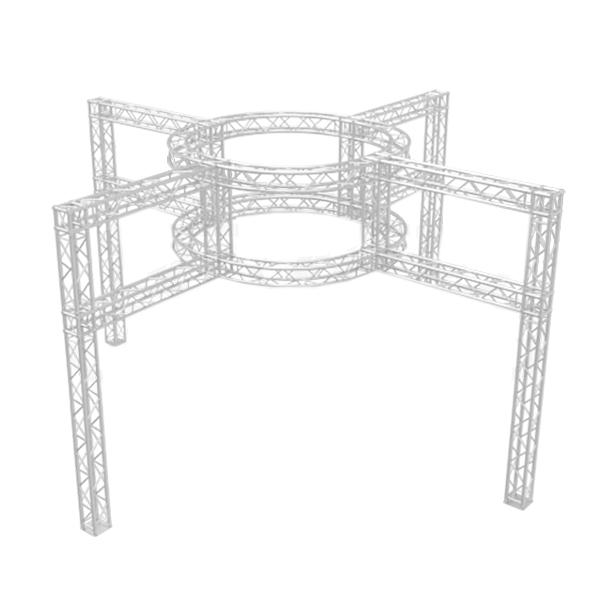 20' x 20' Dual Tier Round Truss Exhibition Booth Design