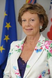 commissaire européenne Neelie Kroes, en charge des nouvelles technologies