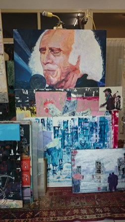 In the studio - Léo Ferré portrait and other treasures