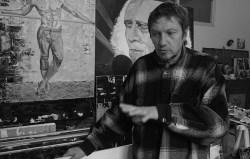 Clément Baeyens in his studio in Sète