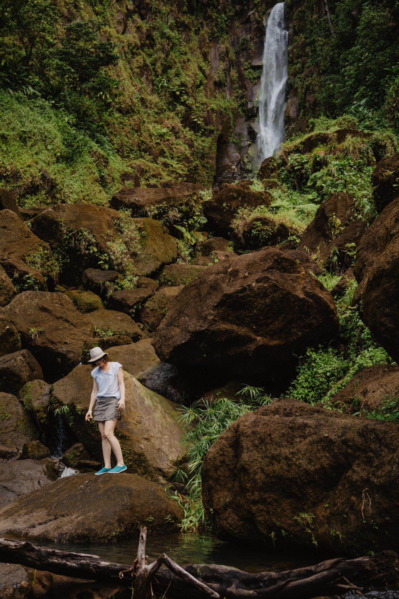 La chute Papa Falls à Trafalgar Falls, Dominique