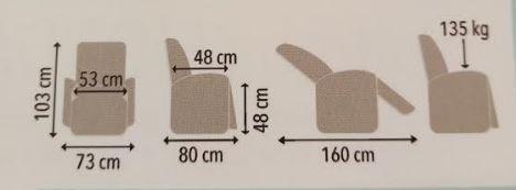 misure poltrona viola