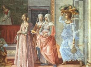Ghirlandaio - Nascita di Giovanni Battista (dettaglio)