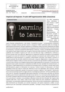 thumbnail of GF CURION Imparare a imparare. Organizzazione della conoscenza