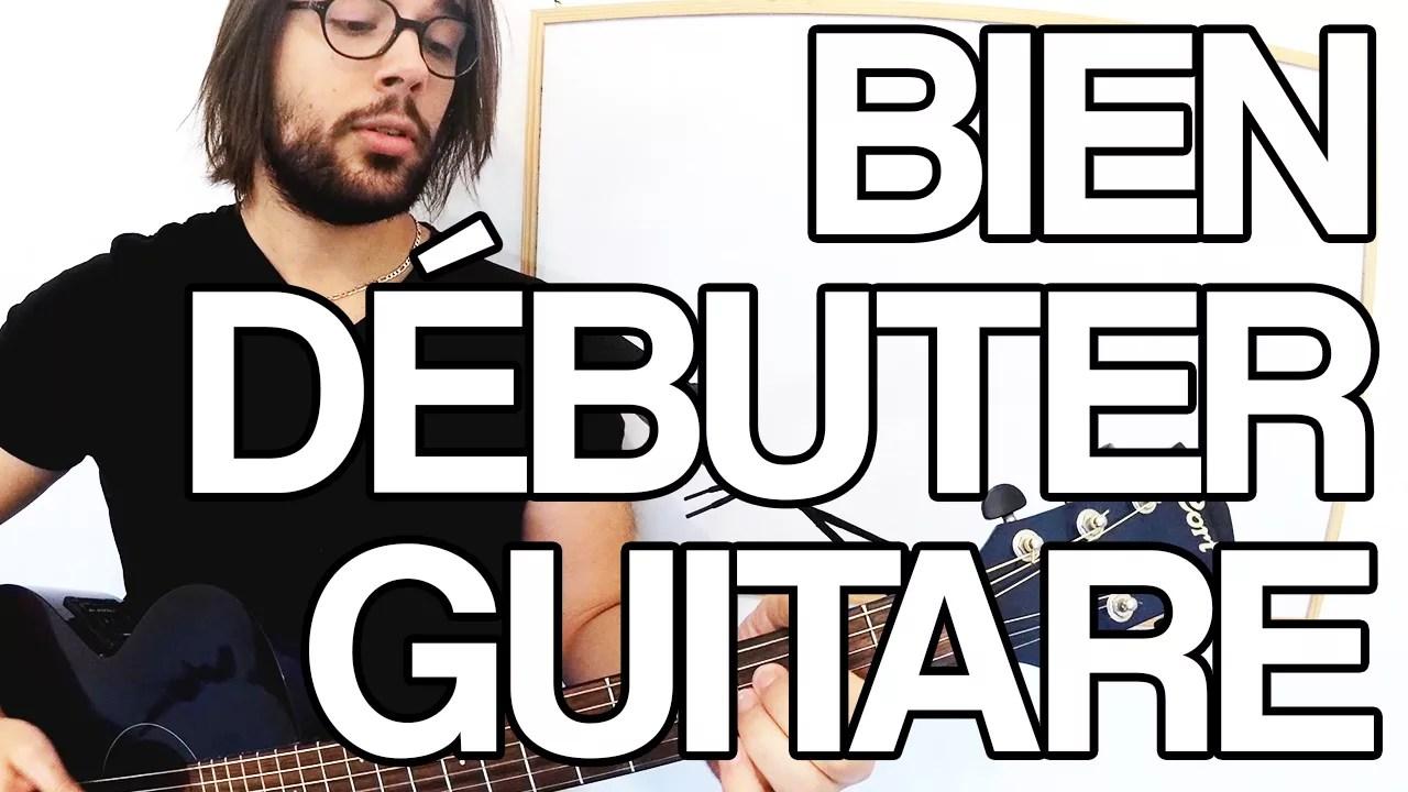 bien débuter avec sa premier guitare comment commenver à jouer facile cours vidéo tuto simple débutant leçon