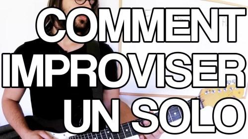 comment improviser un solo facile à la guitare débutant cours leçon tuto apprendre pentatonique