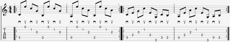 arpège au médiator cours facile guitare apprendre leçon