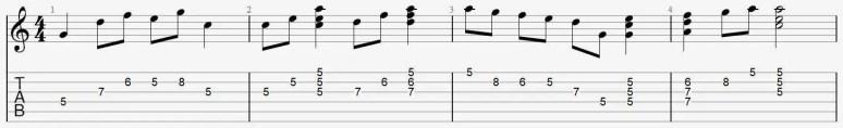 exercice position 2 déchriffrage tablature