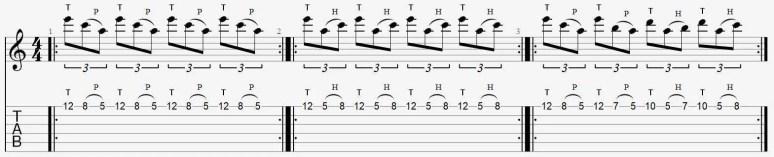 plan exercice tapping legato une corde facile débutant leçon cours