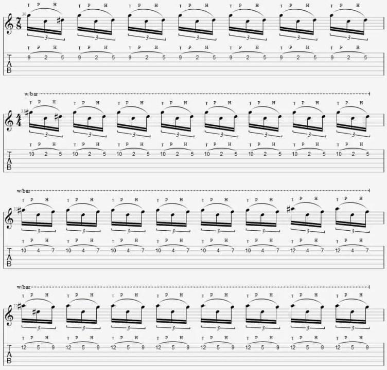 solo tapping débutant morceau eruption eddie van halen facile guitare tuto cours leçon