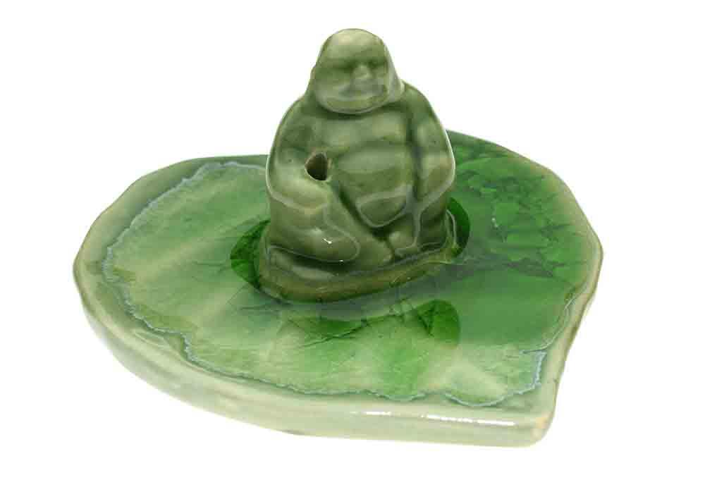 Incense Holder Buddha Green