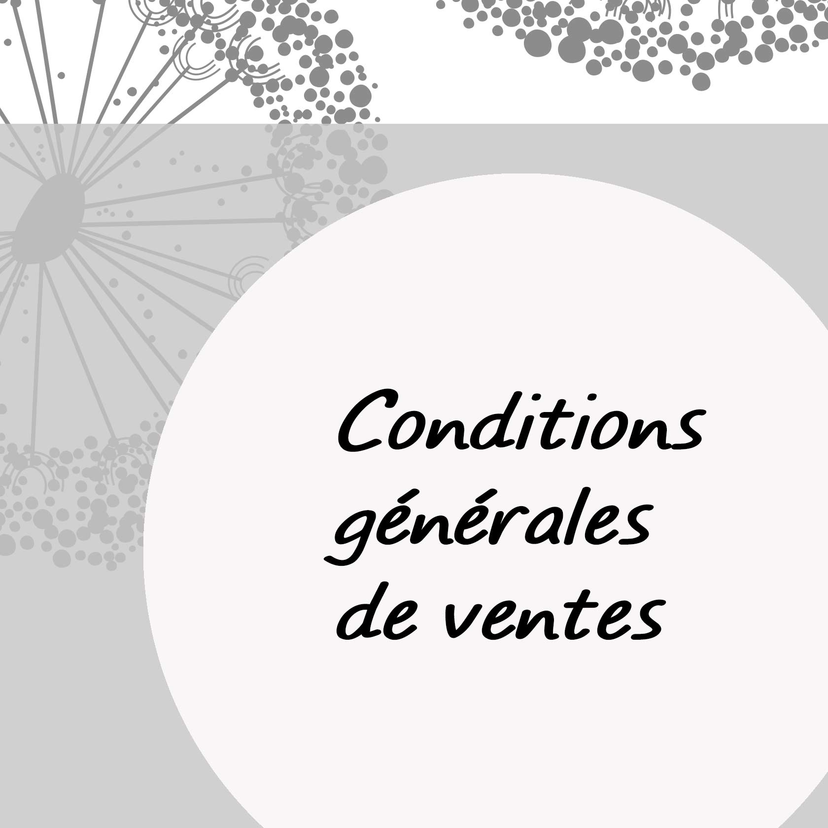 Conditions générales de vente