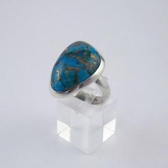 Bague Argent Turquoise Réglable