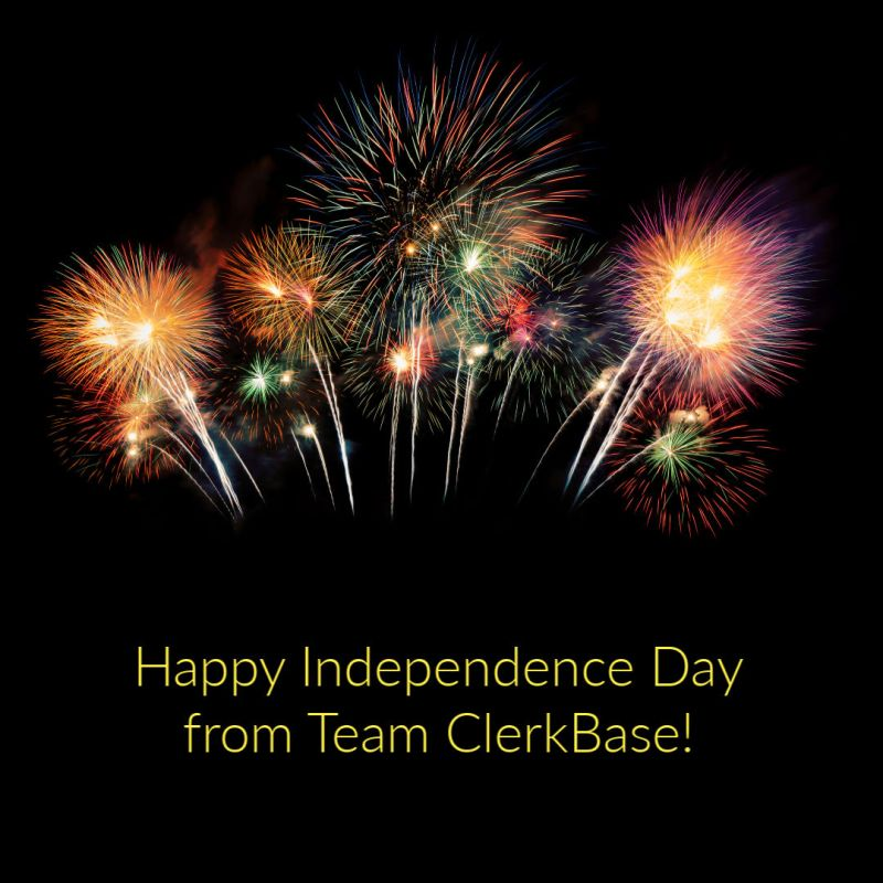 Happy Independence Day from Team ClerkBase!